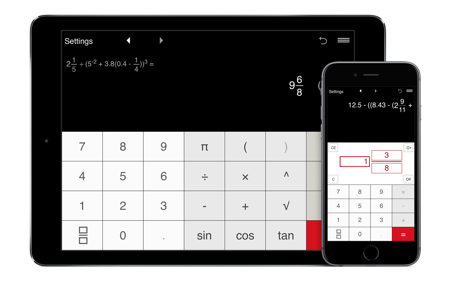Fractions Pro til iPhone, iPad og Android