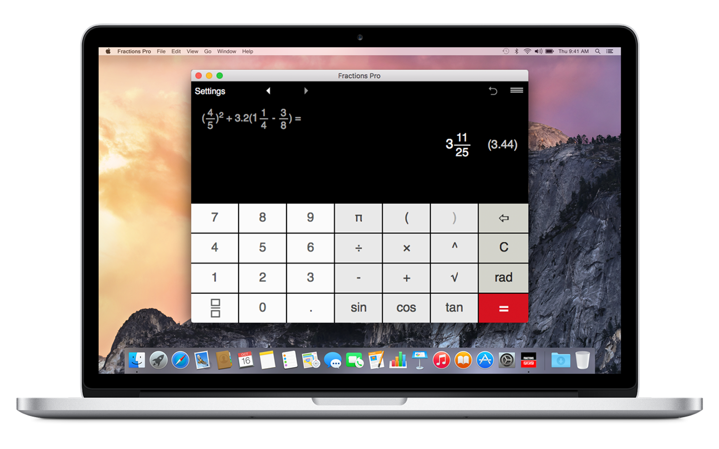 Fractions Pro for Mac